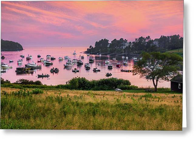 Lobster Boat Greeting Cards - Mackerel Cove Greeting Card by Benjamin Williamson