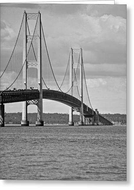 Strong America Greeting Cards - Mackinac Bridge 6111 Greeting Card by Michael Peychich