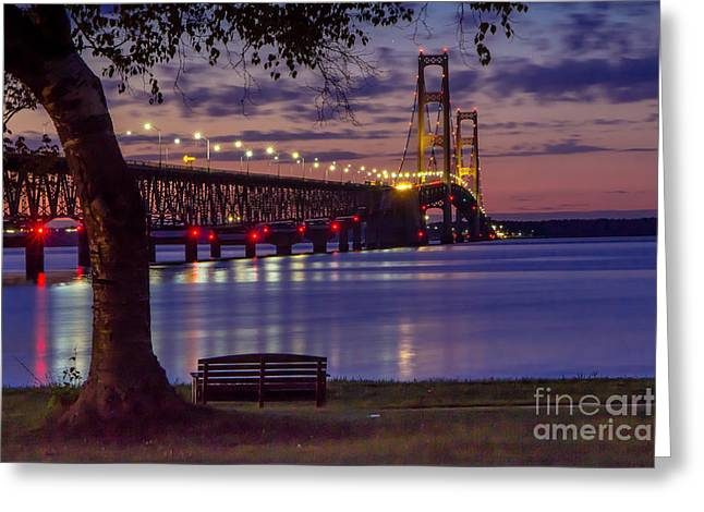 Beach Photography Greeting Cards - A Quiet Evening On The Straits Of Mackinac  8710 Greeting Card by Norris Seward