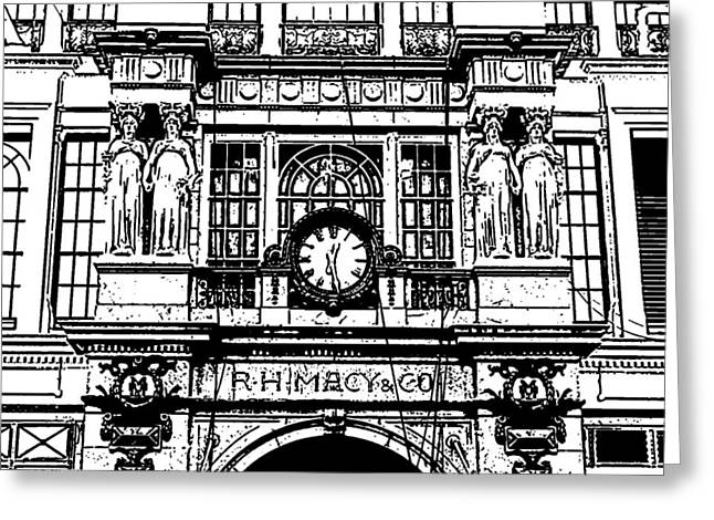 Macys Greeting Cards - Macys 34th Street 1.1 Greeting Card by Frank Mari