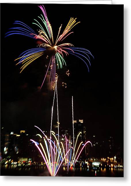 4th July Photographs Greeting Cards - Macys Fireworks I Greeting Card by David Hahn
