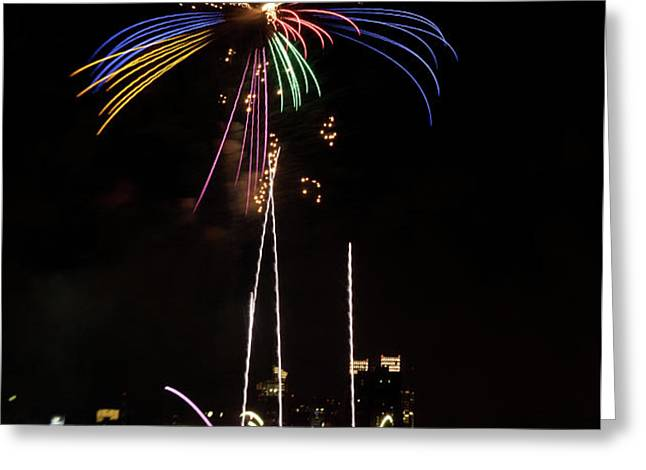 Macy's Fireworks I Greeting Card by David Hahn
