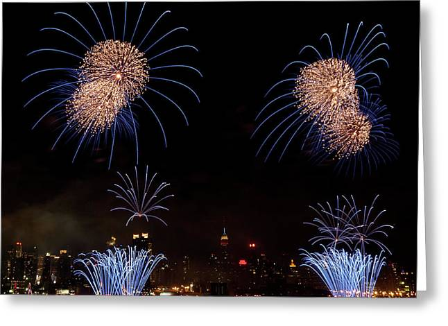 4th July Photographs Greeting Cards - Macys Fireworks III Greeting Card by David Hahn