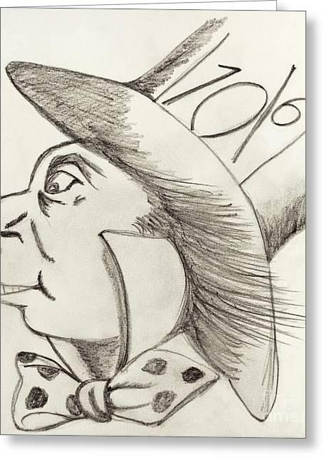 Mad Hatter Greeting Cards - Mad Hatter Greeting Card by Gillian Singleton