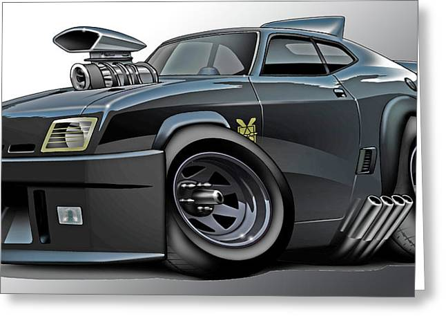 Green Hornets Greeting Cards - Mad Max Falcon Interceptor Greeting Card by Maddmax