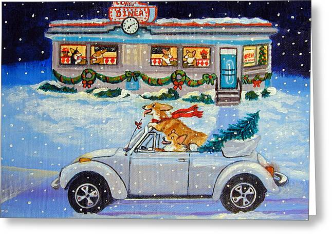 Christmas Trees Greeting Cards - Mad Maxs Ride Greeting Card by Lyn Cook