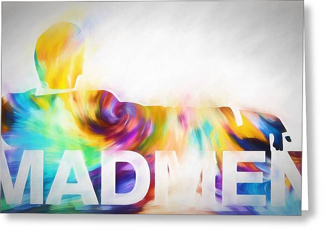 Mad Men Color Warp Greeting Card by Dan Sproul