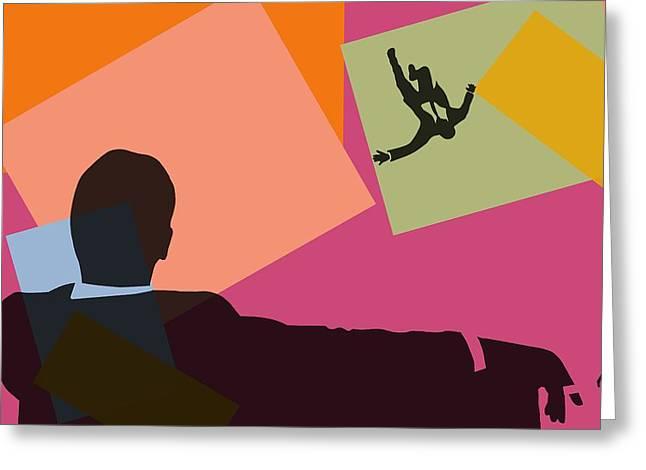 Mad Men Pop Art Greeting Card by Dan Sproul