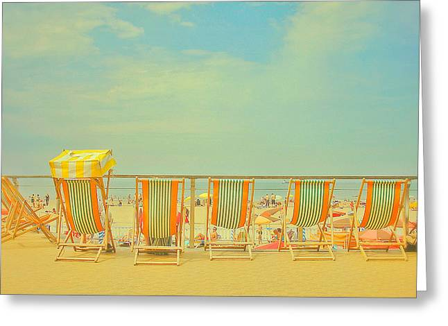 Mad Men's Retreat Greeting Card by Connie Handscomb