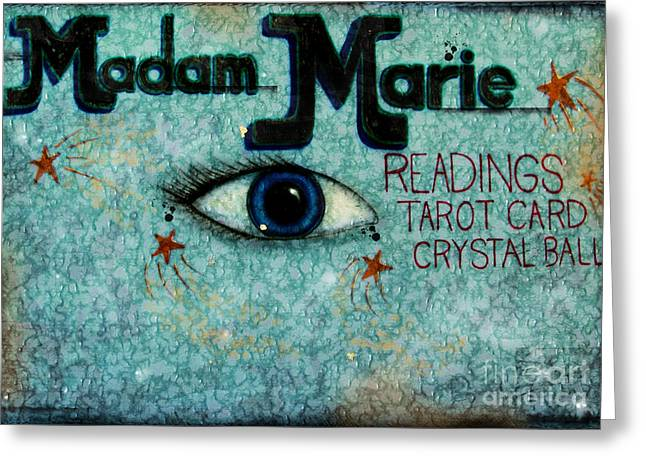 Reading Images Greeting Cards - Madam Marie Greeting Card by Colleen Kammerer