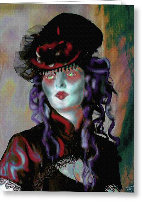 Countess Greeting Cards - Madame la Comtesse Greeting Card by Mimulux patricia no