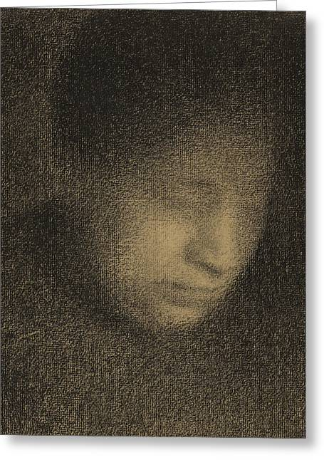Madame Seurat Greeting Card by Georges Pierre Seurat