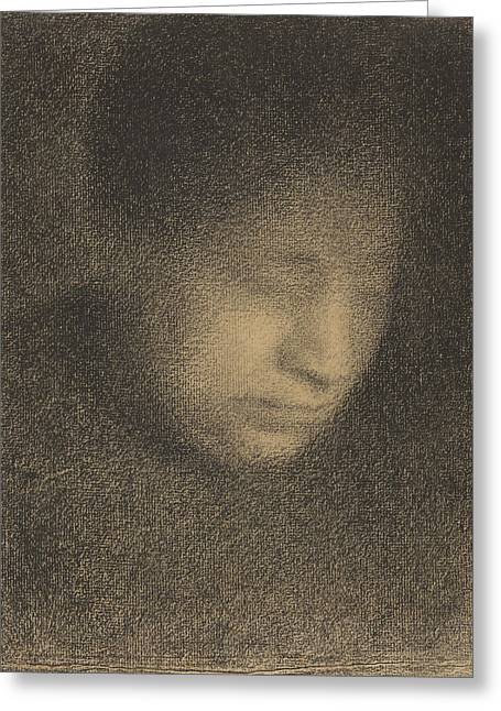 Seurat Greeting Cards - Madame Seurat the Artists Mother Greeting Card by Georges-Pierre Seurat