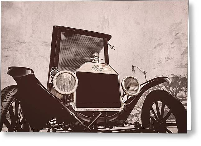 Ford Model T Car Greeting Cards - Made In USA Greeting Card by Caitlyn  Grasso