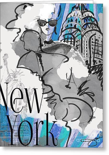 Made In Manhattan Greeting Card by Jodi Pedri