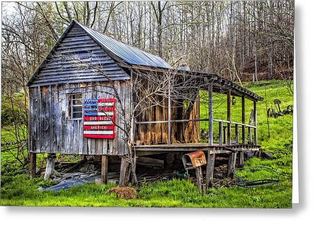 Tennessee Barn Greeting Cards - Made in the USA Greeting Card by Debra and Dave Vanderlaan