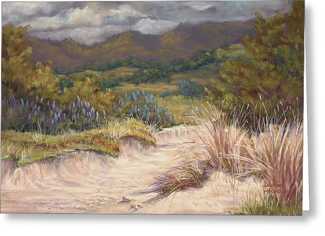 Marin County Pastels Greeting Cards - Madeiras Dunes Greeting Card by Debbie Harding