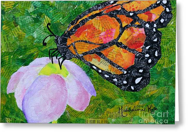 Paper Mache Greeting Cards - Mademoiselle Butterfly Greeting Card by Madelaine Kobe
