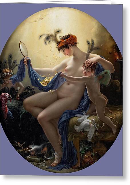 Girodet Greeting Cards - Mademoiselle Lange as Danae Greeting Card by Anne-Louis Girodet de Roussy-Trioson