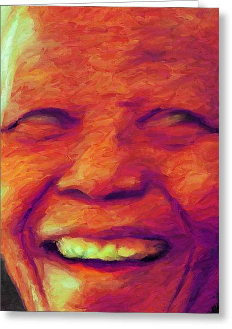Afrocentric Art Greeting Cards - Madiba 1 Greeting Card by Caito Junqueira