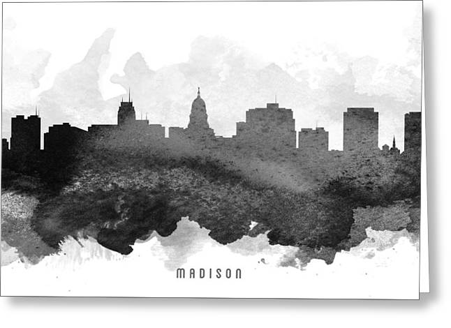 Madison Greeting Cards - Madison Cityscape 11 Greeting Card by Aged Pixel