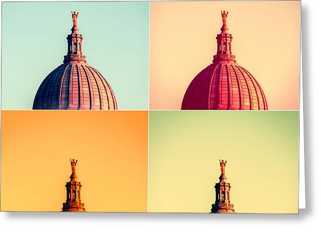 Madison Polyptych Greeting Card by Todd Klassy