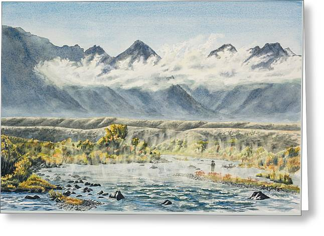 Madison River Morning Greeting Card by Link Jackson