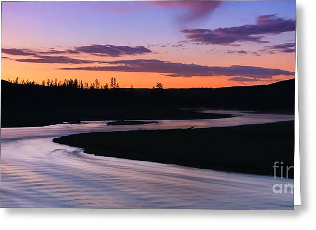 Print Greeting Cards - Madison River, Yellowstone NP Greeting Card by Henk Meijer Photography