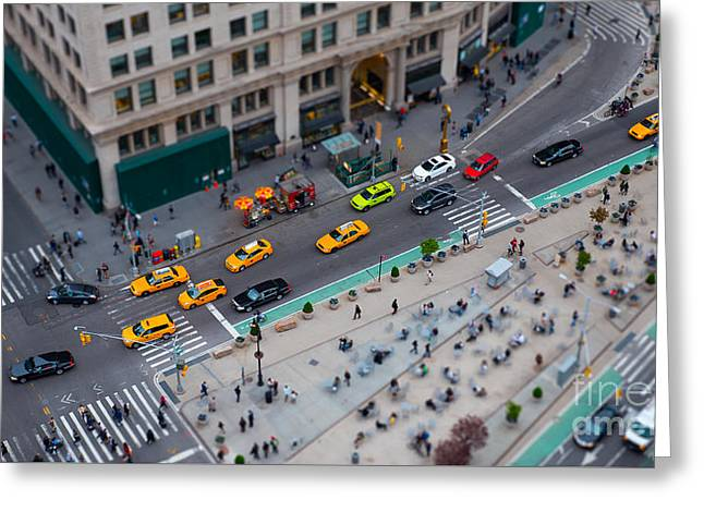 Madison Square Traffic I Greeting Card by Clarence Holmes