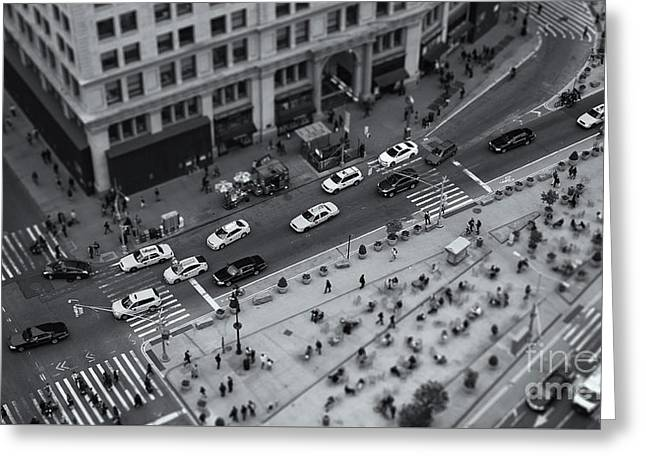 Madison Square Traffic II Greeting Card by Clarence Holmes
