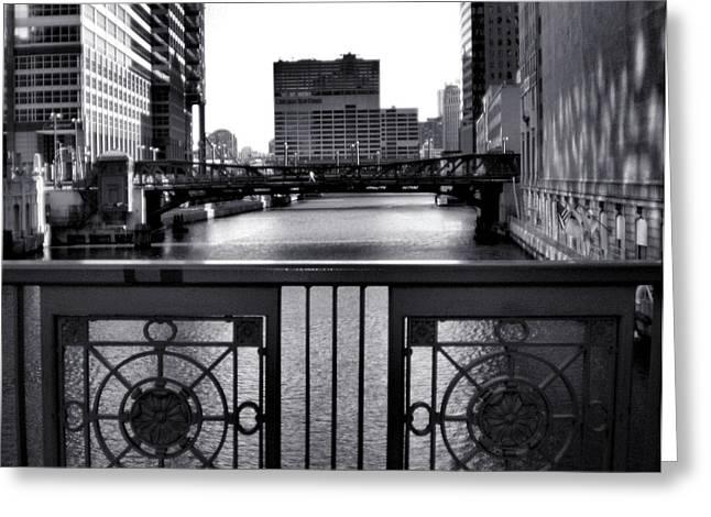 Madison Street Bridge - 3 Greeting Card by Ely Arsha
