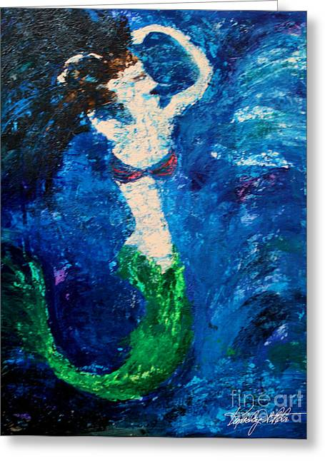 My Ocean Paintings Greeting Cards - Madness in the Cure Greeting Card by Kim Peto
