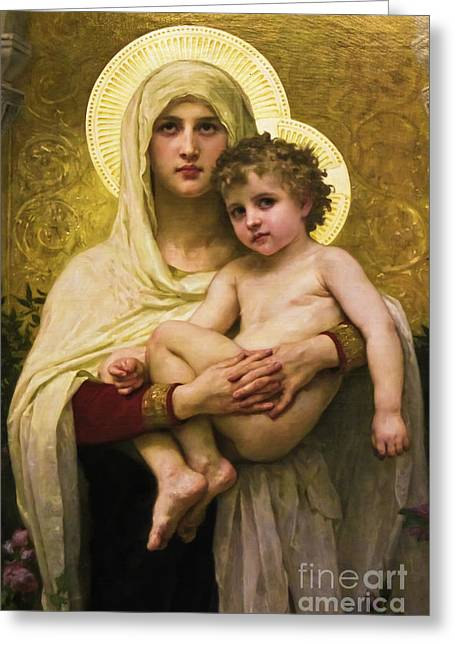 Madonna And Child Greeting Card by Colleen Kammerer