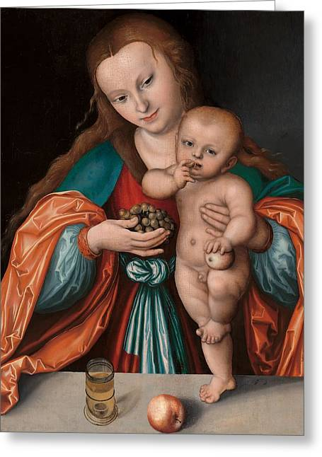 Madonna And Child Greeting Card by Mountain Dreams
