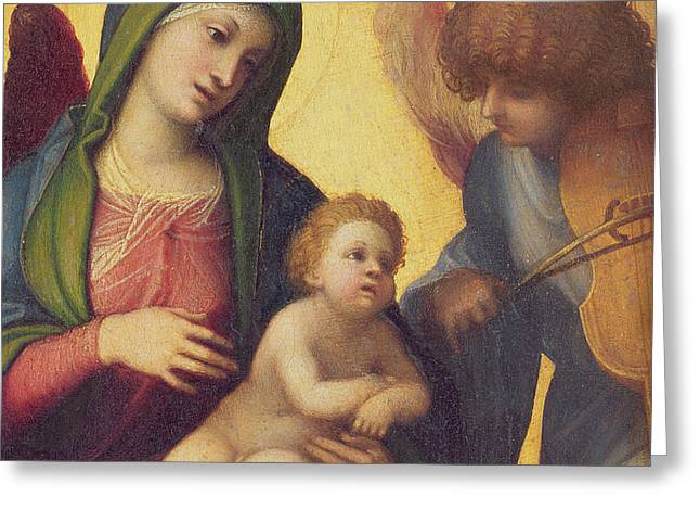Madonna and Child with Angels Greeting Card by Correggio