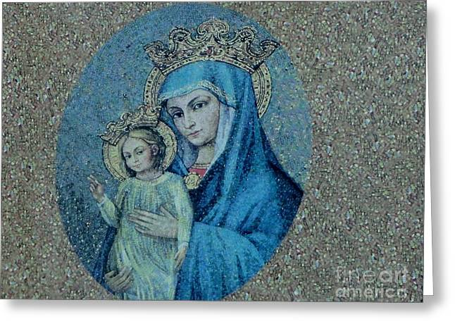 Christ Child Greeting Cards - Madonna and Christ Child Greeting Card by Hammel