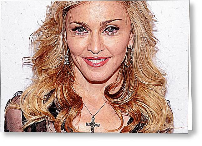 Child Jesus Greeting Cards - Madonna Greeting Card by Queso Espinosa