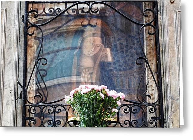 Madonna Reflection Greeting Card by Marion McCristall