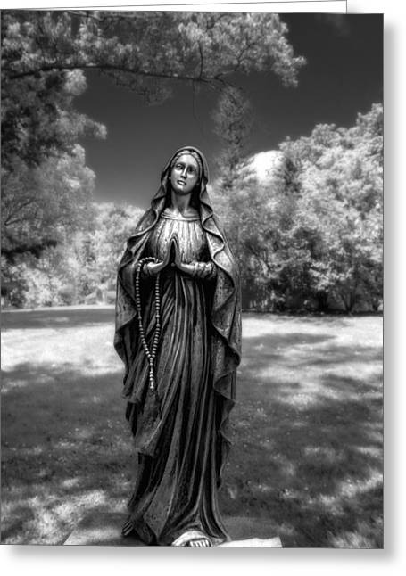 Gravestones Greeting Cards - Madonna Greeting Card by Tom Mc Nemar
