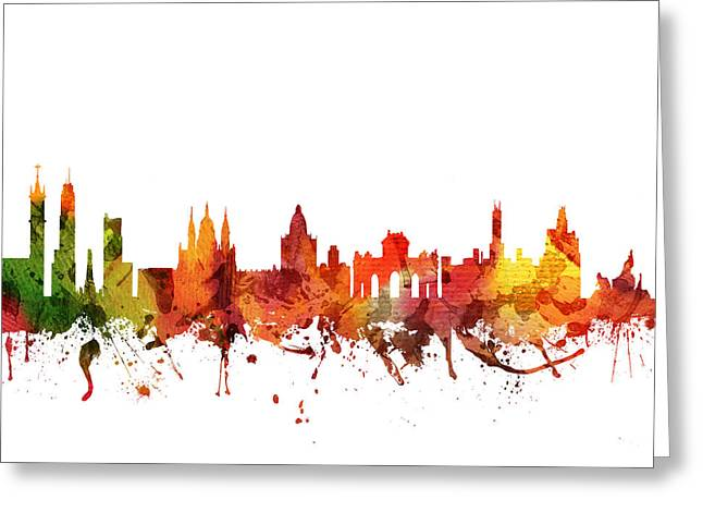 Madrid Greeting Cards - Madrid Cityscape 04 Greeting Card by Aged Pixel