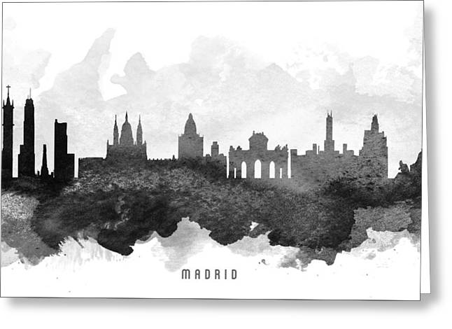 Madrid Greeting Cards - Madrid Cityscape 11 Greeting Card by Aged Pixel