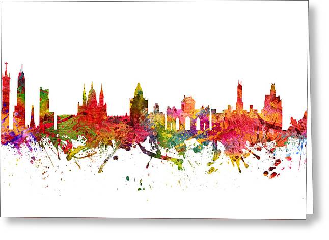 Madrid Greeting Cards - Madrid Spain Cityscape 08 Greeting Card by Aged Pixel