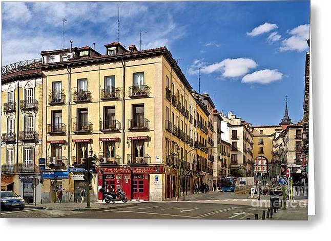 Castilla Greeting Cards - Madrid Spain Greeting Card by John Greim