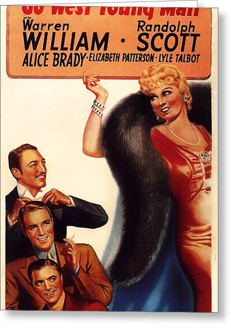 1936 Movies Greeting Cards - Mae West in Go West Young Man 1936 Greeting Card by Mountain Dreams