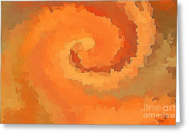 Earthtone Colored Art Greeting Cards - Maelstrom Greeting Card by Scott Cameron