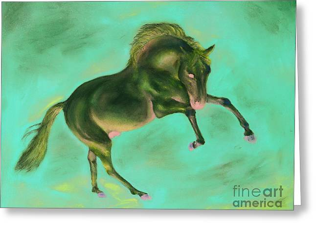 Majestic Pastels Greeting Cards - Maestoso VI Greeting Card by Sabina Haas