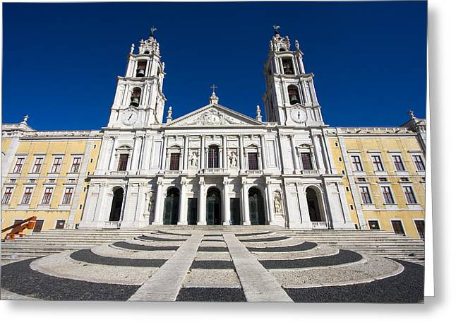 Mafra Greeting Cards - Mafra Palace Greeting Card by Andre Goncalves