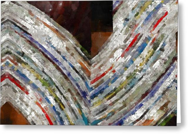 Mag 5 Abstract Painting Greeting Card by Edward Fielding