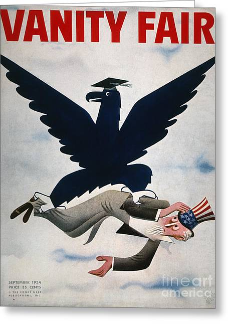 Vanity Fair Greeting Cards - Magazine: New Deal, 1934 Greeting Card by Granger