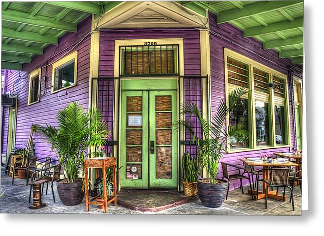 Nola Photographs Greeting Cards - Magazine Street Resaurant Greeting Card by Tammy Wetzel